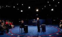 希拉里与特朗普第二次辩论现场