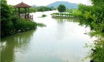 乾元镇幸福村治水活动大小河长齐巡河