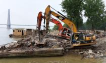 动真格!长江干线3年拆除1254座非法码头-新华网