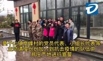莫干山镇高峰村抗击疫情队伍庄严宣誓!
