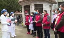 众志成城  防控疫情 志愿者代表向确诊病患送上节日慰问